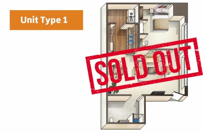 Lofts@1633 Unit 1 floor plan