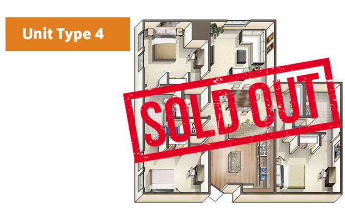 Lofts@1633 Unit 4 floor plan